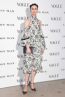 Erin O'Connor<br /> at the Vogue 100: A Century of Style exhibition opening held in the National Portrait Gallery, London.<br /> <br /> <br /> ©Ash Knotek  D3080 09/02/2016