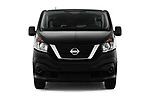 Car photography straight front view of a 2017 Nissan NV300 Optima 4 Door Cargo Van Front View