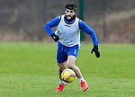 St Johnstone Training…. 09.12.20<br />Craig Conway wearing a protective mask after recovering from a broken nose pictured during training ahead of Saturdays home game against Livingston.<br />Picture by Graeme Hart.<br />Copyright Perthshire Picture Agency<br />Tel: 01738 623350  Mobile: 07990 594431