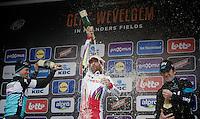 victory for Luca Paolini (ITA/Katusha)<br /> 2nd: Niki Terpstra (NLD/Etixx-QuickStep)<br /> 3rd: Geraint Thomas (GBR/SKY)<br /> <br /> 77th Gent-Wevelgem 2015