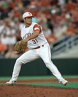 Texas Freshman Pitcher Chance Ruffin delivers against Texas A&M on May 16th, 2008 in Austin Texas. Photo by Andrew Woolley / Four Seam Images...