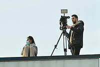 camera team of Eleven Sport pictured during a female soccer game between SV Zulte - Waregem and Oud Heverlee Leuven on the sixth matchday of the 2020 - 2021 season of Belgian Scooore Women s SuperLeague , saturday 7 th of November 2020  in Zulte , Belgium . PHOTO SPORTPIX.BE   SPP   DIRK VUYLSTEKE