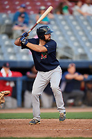 Lowell Spinners left fielder Devlin Granberg (35) at bat during a game against the Connecticut Tigers on August 26, 2018 at Dodd Stadium in Norwich, Connecticut.  Connecticut defeated Lowell 11-3.  (Mike Janes/Four Seam Images)