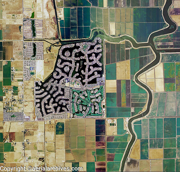 aerial photo map of Discovery Bay residential development, Contra Costa county, California