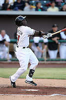 Trayvon Robinson #21 of the Albuquerque Isotopes plays in a Pacific Coast League game against the Omaha Storm Chasers at Isotopes Park on May 4, 2011  in Albuquerque, New Mexico. .Photo by:  Bill Mitchell/Four Seam Images.
