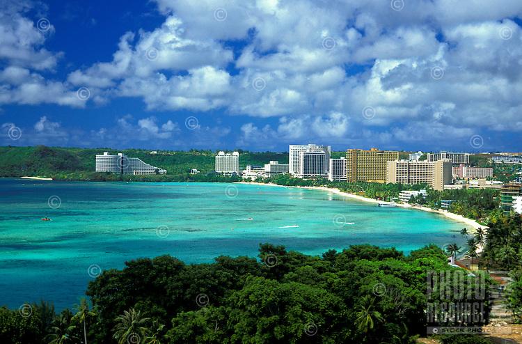 Scenic Tumon Bay is a popular tourist destination for visitors to the island of Guam.