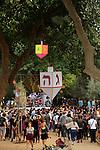 Israel, Hanukkah street party in Tel Aviv