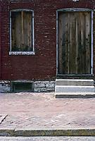 St. Louis: Soulard Neighborhood. Boarded doorway. Photo '77.