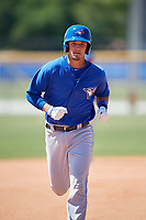 Toronto Blue Jays Max Pentecost (8) during a Minor League Spring Training Intrasquad game on March 14, 2018 at Englebert Complex in Dunedin, Florida.  (Mike Janes/Four Seam Images)