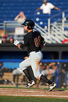 West Virginia Black Bears outfielder Ryan Nagle (64) at bat during a game against the Batavia Muckdogs on August 30, 2015 at Dwyer Stadium in Batavia, New York.  Batavia defeated West Virginia 8-5.  (Mike Janes/Four Seam Images)