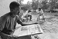 - African immigrants employed as agricultural workers for tomatoes harvest lodged in the farmer house of a cooperative<br /> <br /> - immigrati africani impiegati come braccianti agricoli per la raccolta dei pomodori ospitati nella casa colonica di una cooperativa