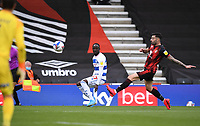 17th October 2020; Vitality Stadium, Bournemouth, Dorset, England; English Football League Championship Football, Bournemouth Athletic versus Queens Park Rangers; Albert Adomah of Queens Park Rangers crosses under pressure from Diego Rico of Bournemouth