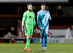 Dundee United v St Johnstone…12.01.21   Tannadice     SPFL<br />Keepers Zander Clark and Benjamin Siegrist at full time<br />Picture by Graeme Hart.<br />Copyright Perthshire Picture Agency<br />Tel: 01738 623350  Mobile: 07990 594431