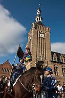 Europe/France/Nord-Pas-de-Calais/59/Nord/Bailleul: Le Carnaval de Bailleul devant le beffoi classé au Patrimoine mondial UNESCO