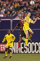 The Columbus Crew defeated the NY/NJ MetroStars 1-0 on 4/12/03 at Giant's Stadium, NJ.