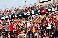 EAST HARTFORD, CT - JULY 5: Fans cheer at the final whistle after a game between Mexico and USWNT at Rentschler Field on July 5, 2021 in East Hartford, Connecticut.