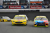 #12: Ryan Blaney, Team Penske, Ford Fusion Menards/Pennzoil and #18: Kyle Busch, Joe Gibbs Racing, Toyota Camry M&M's