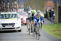 Jelle Wallays (BEL/Topsport Vlaanderen-Baloise) leading the way<br /> <br /> 70th Dwars Door Vlaanderen 2015