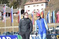 SPEED SKATING: COLLALBO: Arena Ritten, 11-01-2019, ISU European Speed Skating Championships, training, Bjarne Rykkje (Trainer/coach), Håvard Bøkko (NOR), ©photo Martin de Jong