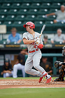 Palm Beach Cardinals Michael Perri (43) at bat during a Florida State League game against the Bradenton Marauders on May 10, 2019 at LECOM Park in Bradenton, Florida.  Bradenton defeated Palm Beach 5-1.  (Mike Janes/Four Seam Images)