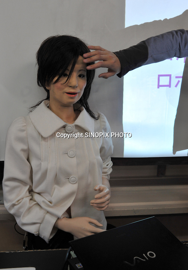 The world's first robot teacher, Saya, is put into her chair in a Tokyo pimary school, 7th May 2009, after a lesson. SAYA has been in development the for the past 15 years by Professor Hiroshi Kobayashi at the Dept. of Mechanical Engineering at Tokyo University of Science.  SAYA can talk and has a full range of facial expressions. Professor Hiroshi Kobayashi's study, at the Dept. of Mechanical Engineering at Tokyo University of Science.
