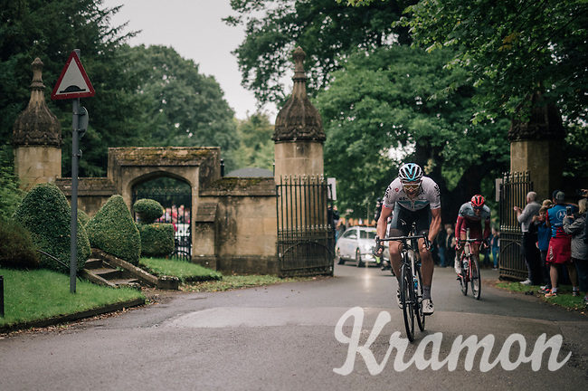 Ian Stannard (GBR/SKY) storming through the gates as he decided that today was the day for a full on attack<br /> <br /> Stage 7: West Bridgford to Mansfield (215km)<br /> 15th Ovo Energy Tour of Britain 2018