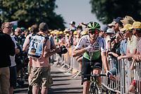 Julien Vermote (BEL/DimensonData) returning down the Mûr de Bretagne after finishing<br /> <br /> Stage 6: Brest > Mûr de Bretagne / Guerlédan (181km)<br /> <br /> 105th Tour de France 2018<br /> ©kramon