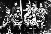 German soldiers.  Adolf Hitler at left.  (OWI)<br /> Exact Date Shot Unknown<br /> NARA FILE #:  208-PU-93Y-4<br /> WAR & CONFLICT BOOK #:  500