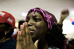 November 4, 2008. Greensboro, NC.. As news that NBC had called the presidential election for Democrat Barack Obama, people at a Democratic election watching party were overwhelmed.. Zim Ugochukwu cried for joy.