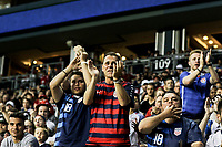 Chester, PA - Monday May 28, 2018: USA supporters during an international friendly match between the men's national teams of the United States (USA) and Bolivia (BOL) at Talen Energy Stadium.