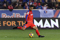 Harrison, NJ - Thursday March 01, 2018: Gerson Rodas. The New York Red Bulls defeated C.D. Olimpia 2-0 (3-1 on aggregate) during a 2018 CONCACAF Champions League Round of 16 match at Red Bull Arena.