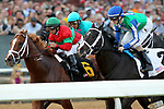 HOT SPRINGS, AR - MARCH 18: Malagacy #6, ridden by Javier Castellano holds off Uncontested #2 and Royal Mo #10 during the start of the Rebel Stakes race at Oaklawn Park on March 18, 2017 in Hot Springs, Arkansas. (Photo by Justin Manning/Eclipse Sportswire/Getty Images)