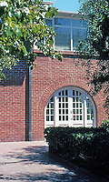 Irving Gill: Arthur Marston House. First of two Arched French Doors. Photo 2001.