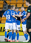 St Johnstone v Motherwell…..12.02.20   McDiarmid Park   SPFL<br />Callum Hendry celebrates his goal<br />Picture by Graeme Hart.<br />Copyright Perthshire Picture Agency<br />Tel: 01738 623350  Mobile: 07990 594431