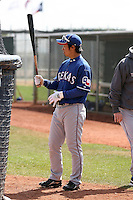 Hirotoshi Onaka of the Texas Rangers participates in minor league spring training workouts against the Kansas City Royals at the Rangers minor league complex, on March 22, 2011  in Surprise, Arizona. .Photo by:  Bill Mitchell/Four Seam Images.
