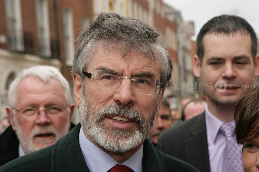 09/03/2011.Sinn fein PResident Gerry Adams.during the 1st day of the 31st Dail.at Leinster House,  Dublin..Photo: Gareth Chaney Collins