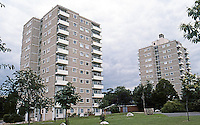 London: Public Housing, Alton East Estates, Roehampton Lane SW 15. LCC Architects Dept., 1952-55.  Photo '90.