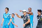 (L-R) Shusei Yamauchi, Masayuki Komaki,   Marcelo Mendes, Ozu Moreira (JPN),<br /> APRIL 20, 2014 - Beach Soccer :<br /> Beach Soccer Japan national team candidates training camp in Okinawa, Japan. (Photo by Wataru Kohayakawa/AFLO)
