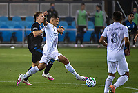 SAN JOSE, CA - SEPTEMBER 13: Javier Hernandez #14 of the Los Angeles Galaxy during a game between Los Angeles Galaxy and San Jose Earthquakes at Earthquakes Stadium on September 13, 2020 in San Jose, California.