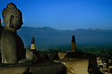 Borobudur, Indonesia just after sunrise.  Photo by Karie Henderson ©2001