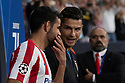 Diego Costa of Atletico de Madrid , Cristiano Ronaldo of Juventus during the Atletico de Madrid against Juventus Uefa Champions League football match at Wanda Metropolitano stadium in Madrid on September 18, 2019.