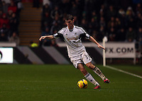 Wednesday, 01 January 2014<br /> Pictured: Ben Davies of Swansea.<br /> Re: Barclay's Premier League, Swansea City FC v Manchester City at the Liberty Stadium, south Wales.