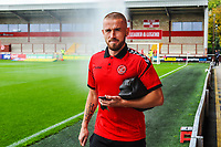 Fleetwood Town's forward Paddy Madden arriving for the Sky Bet League 1 match between Fleetwood Town and Accrington Stanley at Highbury Stadium, Fleetwood, England on 15 September 2018. Photo by Stephen Buckley / PRiME Media Images.