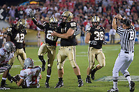 Purdue cornerback Aaron Lane (26) celebrates a tackle.  The Ohio State Buckeyes defeated the Purdue Boilermakers 23-7 on October 06, 2007 at Ross-Ade Stadium, West Lafayette, Indiana.