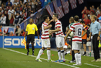 U.S midfielder  Sacha Kljestan (16) comes on for Herculez Gomez..USMNT defeated Guatemala 3-1 in World Cup qualifying play at LIVESTRONG Sporting Park, Kansas City, KS.