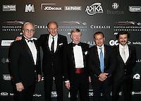 Remi DEPOIX avec des grands champions pilotes automobile - Hans STUCK - guest - Yannick DALMAS - Stephane ORTELLI - Soiree des grands prix du Festival Automobile International - 31 janvier 2017 - Paris - FRANCE