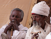 song at the Timkat celebrations beginning in Lalibela Ethiopia
