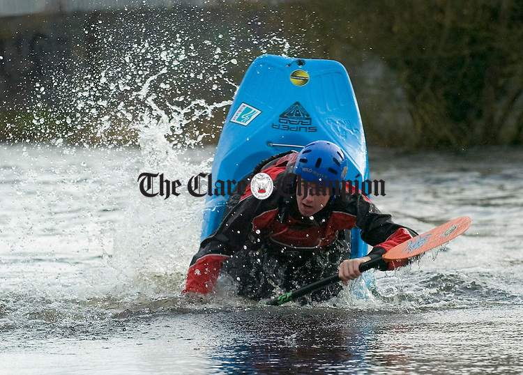 Ennis lad Conor Brediin who is going to the freestyle Kayak championships in Canada in April. Photograph by John Kelly.