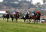 August 15, 2010.Wasted Tears, riden by Rajiv Maragh, winning the John C. Mabee Stakes, at Del Mar Thoroghbred Club, Del Mar, CA