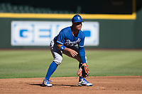 Kansas City Royals third baseman Gabriel Cancel (14) during an Instructional League game against the Arizona Diamondbacks at Chase Field on October 14, 2017 in Scottsdale, Arizona. (Zachary Lucy/Four Seam Images)